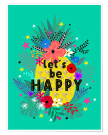 Póster  Lets be Happy - Elisandra Sevenstar