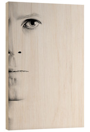 Madera  David Bowie Minimal Portrait - Ileana Hunter