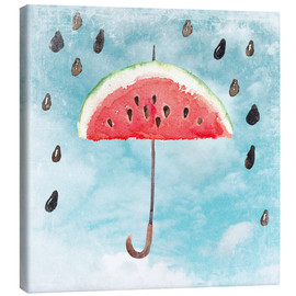 Lienzo  Summery fruity melon rain - UtArt