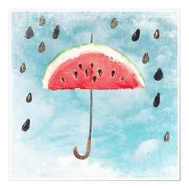 Póster  Summery fruity melon rain - UtArt