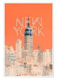 Póster  The Big Apple - Uma 83 Oranges