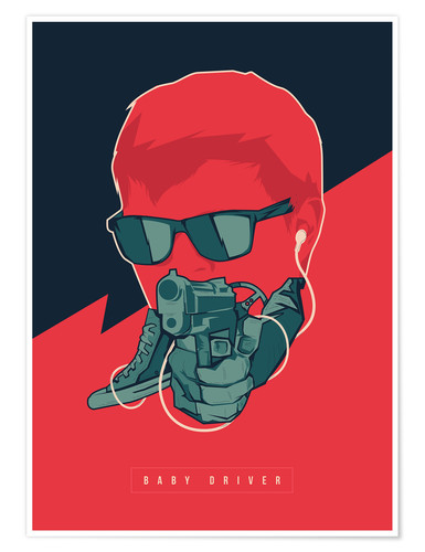 Póster Baby Driver
