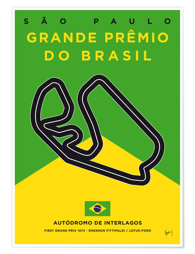 Póster F1 Interlagos Race Track