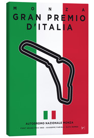 Lienzo  My F1 MONZA Race Track Minimal Poster - chungkong