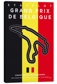 Lienzo  My F1 FRANCORCHAMPS Race Track Minimal Poster - chungkong