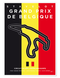 Póster  My F1 FRANCORCHAMPS Race Track Minimal Poster - chungkong
