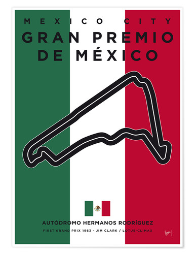 Póster F1 Mexico Race Track