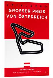 Metacrilato  My F1 Osterreichring Race Track Minimal Poster - chungkong