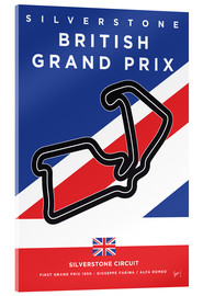 Metacrilato  My F1 SILVERSTONE Race Track Minimal Poster - chungkong