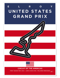 Póster F1 Americas Race Track
