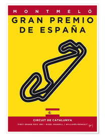 Póster My F1 CATALUNYA Race Track Minimal Poster