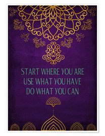 Póster  Do what you can - Sybille Sterk