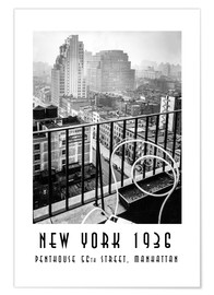Póster Historic New York: Penthouse, 56th Street, Manhattan