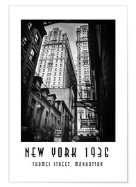 Póster Historic New York: Thames Street, Manhattan
