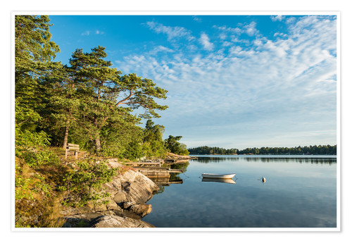 Póster Archipelago on the Baltic Sea coast in Sweden