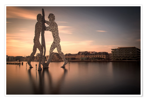 Póster Molecule Men river Spree