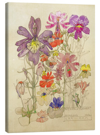 Lienzo  Butterfly Flower, Bowling (Flores como mariposas) - Charles Rennie Mackintosh