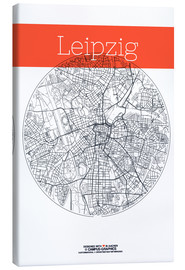 Lienzo  Leipzig map city map - campus graphics