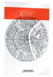 Metacrilato  Cologne city map - campus graphics