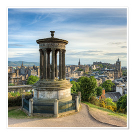Póster Edinburgh Scotland View from Calton Hill