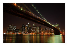 Póster  Manhattan Skyline, New York, United States - Roberto Sysa Moiola