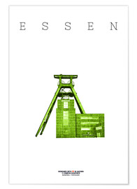 Póster  Essen City Colliery Zollverein - campus graphics