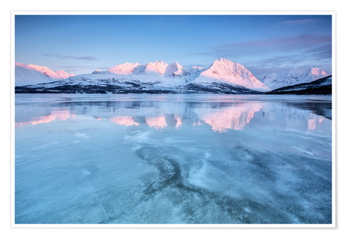 Póster Sunrise,Lyngen Alps,Troms,Norway