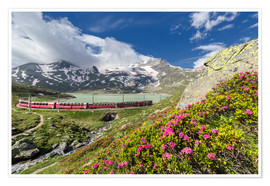 Póster Bernina Express train, Engadine, Switzerland