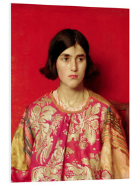 Cuadro de PVC  The Exile: Heavy is the Price I Paid for Love - Thomas Cooper Gotch