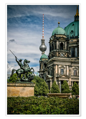 Póster Berlin Cathedral in front of TV tower