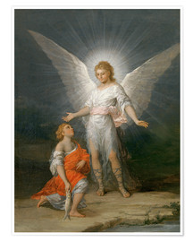 Póster  Tobias and the Angel - Francisco José de Goya
