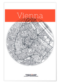 campus graphics - Vienna map city black and white