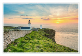 Póster Sunset at Dunnet Head in Scotland