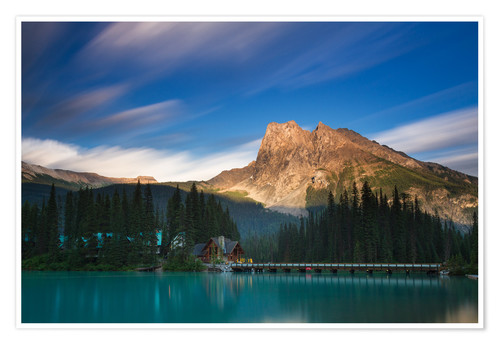 Póster Emerald Lake, British Columbia - Long Exposure