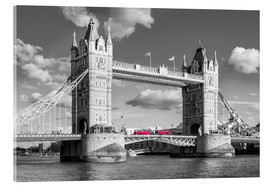 Cuadro de metacrilato  London, Tower Bridge Black and White - rclassen