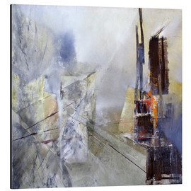 Cuadro de aluminio  Abstract composition in white - Annette Schmucker