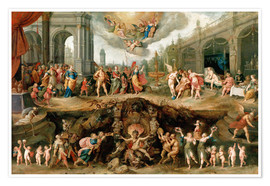 Póster  Mankind's Eternal Dilemma - The Choice Between Virtue and Vice - Frans Francken II