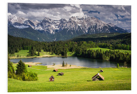 Cuadro de PVC  Karwendel mountains with lake in the Alps - Dennis Fischer