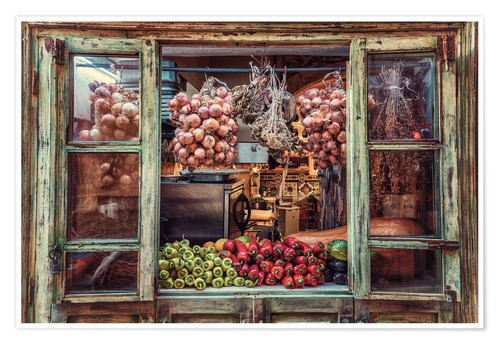 Póster Window with vegetables