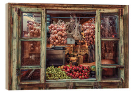 Cuadro de madera  Window with vegetables - Friedhelm Peters