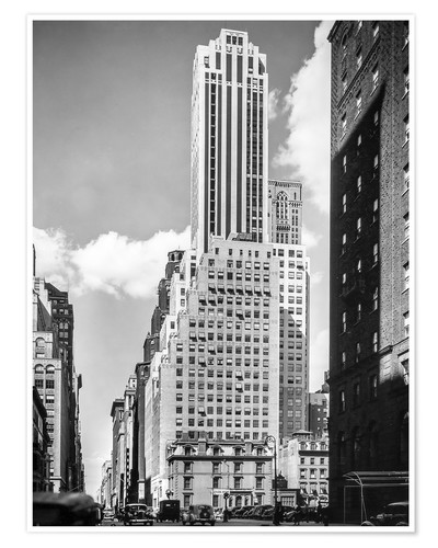 Póster Historic New York: Madison Avenue