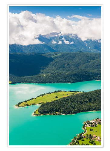 Póster Walchensee from above