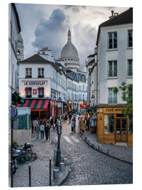 Metacrilato  Streets of Montmartre and Sacre Coeur - Jan Christopher Becke