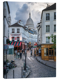 Lienzo  Streets of Montmartre and Sacre Coeur - Jan Christopher Becke