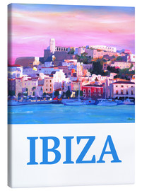 Lienzo  Retro Poster Ibiza Old Town and Harbour Pearl Of the Mediterranean - M. Bleichner