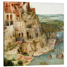 Cuadro de aluminio  Tower of Babel (detail) - Pieter Brueghel d.Ä.