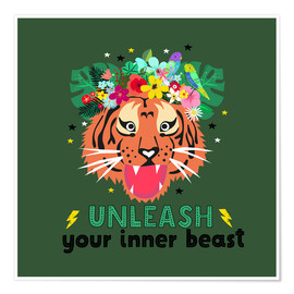 Póster Unleash your inner beast