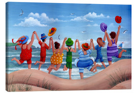 Lienzo  Beach party rainbow scene - Peter Adderley