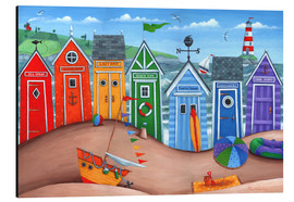 Aluminio-Dibond  Beach hut rainbow scene - Peter Adderley