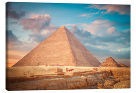 Lienzo  great pyramid of Giza in Egypt